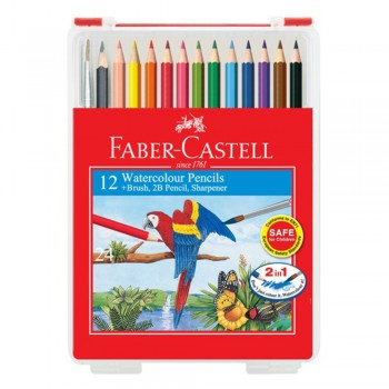 Faber Castell Watercolour Pencils 12L in Wonder Box 114562