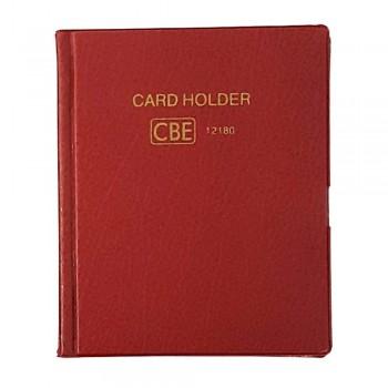 CBE 12180 PVC Name Card Holder - Red