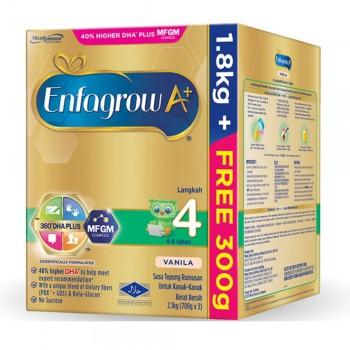 Enfagrow A+ Step 4 Milk (4-6 years) MFGM (1.8kg Free 300g) Vanilla
