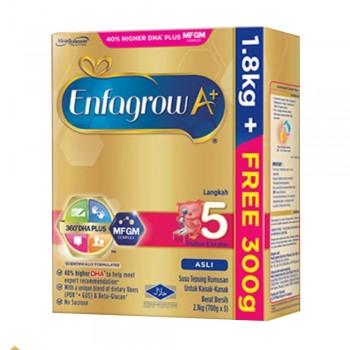 Enfagrow A+ Step 5 Milk (6 years & above) MFGM (1.8kg Free 300g) Original