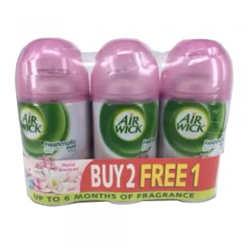 Air Wick Life Scents Freshmatic Floral Bouque Refill 250ml 2+1 (Value Pack)