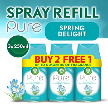 Air Wick Pure Freshmatic Refill Spring Delight Value Pack (250ml x 3)