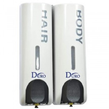 DURO 350ml x2 Double Soap Dispenser 9511
