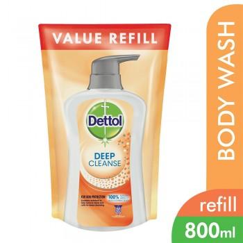 Dettol Deep Cleanse Shower Gel Refill pouch 800ml