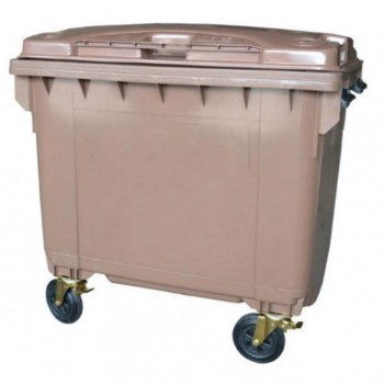LEADER Mobile Garbage Bins BP 660 Brown