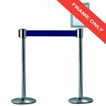 Stainless Steel Q-Up Frame (FRQ1211/SS) - for Self Retractable Belt Q-Up Stand (A4) (Item No: G05-61)