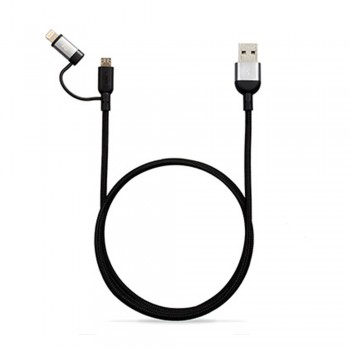 Adam Elements Peak Duo 120B Lightning Cable - Gray