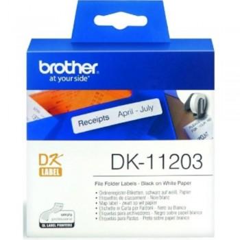 Brother DK11203 File Folder Label - 17mm x 87mm
