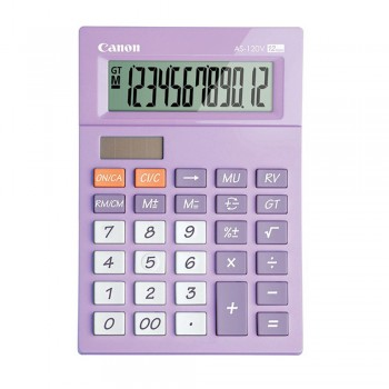 Canon AS-120V-PU Arc Design 12 Digits Calculator (Purple)