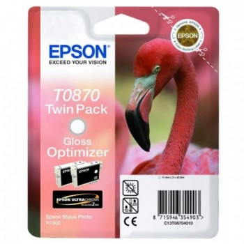 Epson T0870 Stylus photo Ink Cartridge (Double Pack) - Gloss Optimizer (Item No:EPS T087090)
