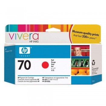 HP 70 DesignJet Ink Cartridge 130-ml - Red  (C9456A)