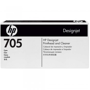 HP 705 DesignJet Printhead/Printhead Cleaner - Cyan (CD954A)