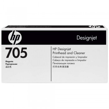 HP 705 DesignJet Printhead/Printhead Cleaner - Magenta (CD955A)