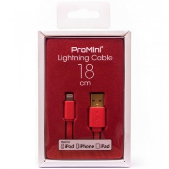 Magic Pro - ProMini Lightning Cable 18cm - Red