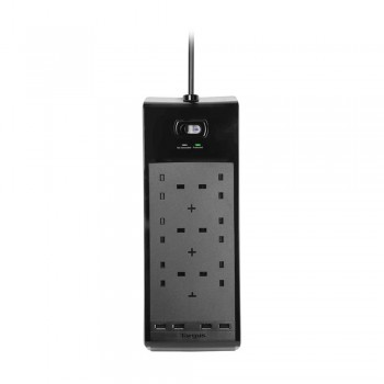 Targus Smart Surge 6 with 4 USB Ports - Black