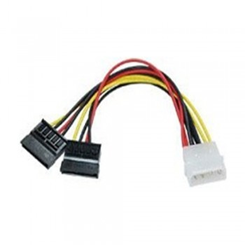 4 Pin (male) to 2 X Sata Power Cable (Female) 15cm