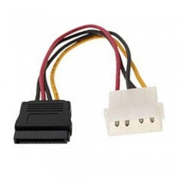 4 Pin (Male) to Sata Power Cable (Female) 15cm