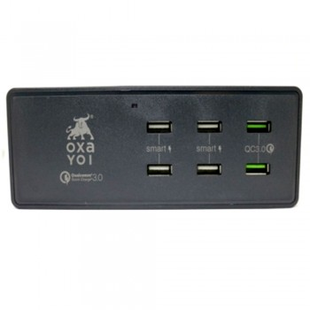 OXA Charger 50W 6 Ports (2 x QC3.0 + 4 x USB Smart)