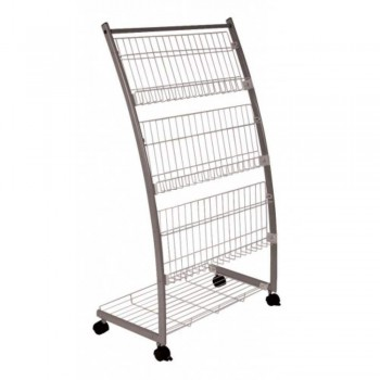Newspaper & Magazine Rack MR208 - 640W x 370D x 1200H (Item No: G05-49)