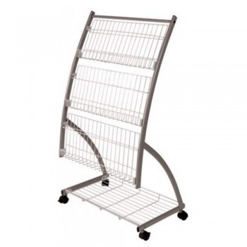 Newspaper & Magazine Rack MR210 - 640W x 380D x 1180H (Item No: G05-51)