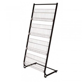 Newspaper & Magazine Rack MR211 - 690W x 400D x 1440H (Item No: G05-14)