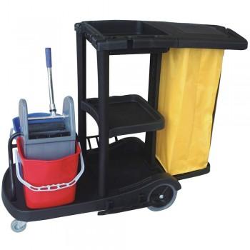 Janitor Cart c/w Wringer Bucket-JC-315