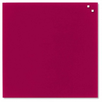 NAGA Magnetic Glass Board - Red (Item No: G14-01)