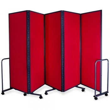 WP-LB5-V01 LAMBO PANELS RED - Panel Size :61cm x 180cm x 5Panels | Folded size : 68 x 194x 54CM | Open Length : 310cm (Item No : G05-154)