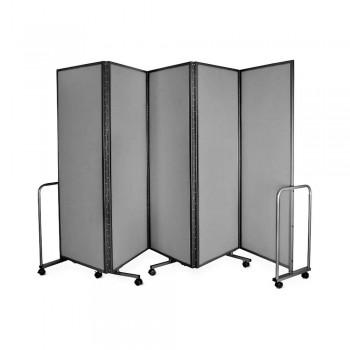 WP-LB5-V04 LAMBO PANELS Light Grey - Panel Size :61cm x 180cm x 5Panels | Folded size : 68 x 194x 54CM | Open Length : 310cm (Item No : G05-157)