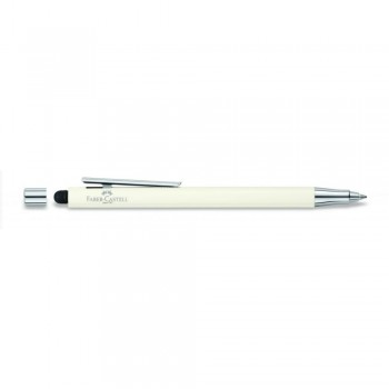 Faber Castell Ivory Shiny Ball Pen with Stylus