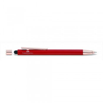 Faber Castell Oriental Red Rose Gold Ball Pen with Stylus