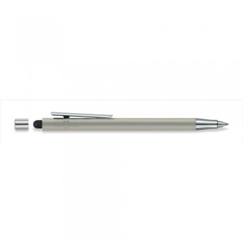 Faber Castell Stainless Steel Matt Ball Pen with Stylus