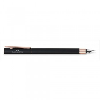 Faber Castell Matt Black Rose Gold Fountain Pen (EF, F, M & B)