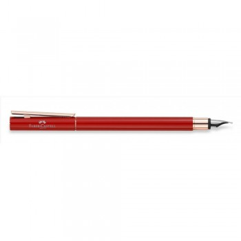 Faber Castell Oriental Red Rose Gold Fountain Pen (EF, F, M & B)