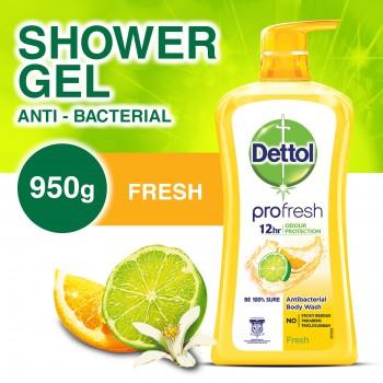 Dettol Anti-Bacterial Shower Gel Fresh 950ml