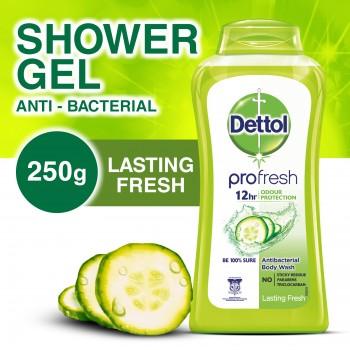 Dettol Anti-Bacterial Shower Gel Lasting Fresh 250ml