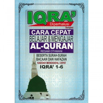 Iqra' Diperhalusi Bertajwid Cara Cepat Belajar dan Mengajar Al-Quran (Iqra' 1-6)