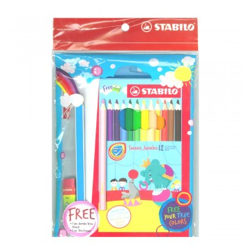 Stabilo Swans Jumbo Coloured Pencils Set