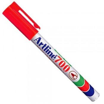 Artline 700 Permanent Marker EK-700 - Pocket Clip 0.7mm Red EK-700-R [709690]