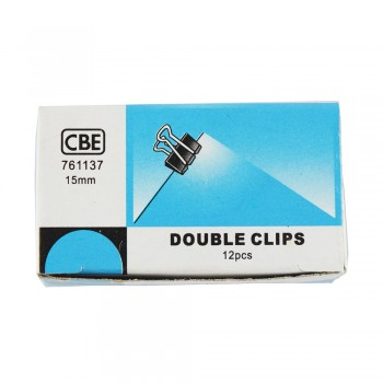 CBE 761137 15MM Double Clip 12pcs/box
