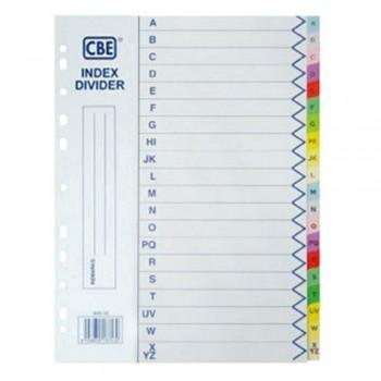 CBE 900-20 - (A-Z) Paper Color Index Divider (Item No: B10-152) A1R4B11