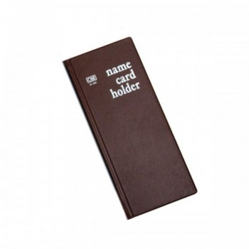 CBE N160 PVC Name Card Holder - Brown (Item No: B01-16BR) A1R2B16