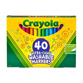Crayola 40ct Fine Line Washable Markers - 587861