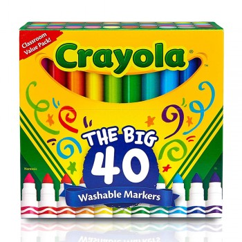 Crayola 40ct Washable Markers - 587858