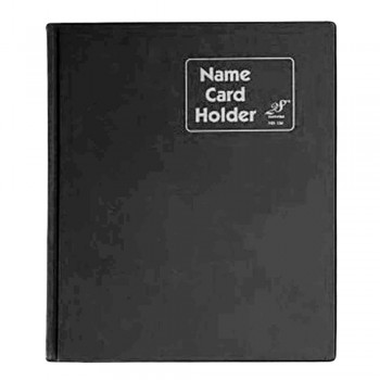 East File NH320 PVC Name Card Holder-Black
