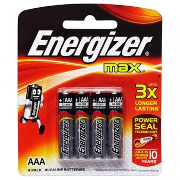 Energizer MAX AAA Alkaline Batteries - 4psc pack (Item No: B06-08) A1R2B221 [220111022]