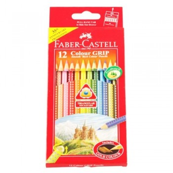 Faber Castell 12 Colour Grip Pencils (Item No: B05-01) A1R2B162