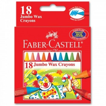 Faber Castell Jumbo Wax Crayons 122518 - 18pcs (Item No: A02-26) A1R1B156
