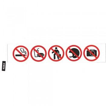KENO Sign Sticker — 5 Round Stickers