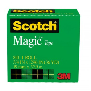 3M 810 MagicTape 3/4 inch x36YDS
